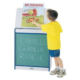 Rainbow Accents Big Book Easel - Chalkboard - Purple - Literacy