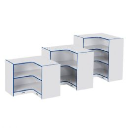 Rainbow Accents Low Inside Corner Storage - Black - Storage