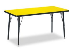 "Berries Rectangle Activity Table - 24"" X 48"", A-height - Yellow/Black/Black - Tables"