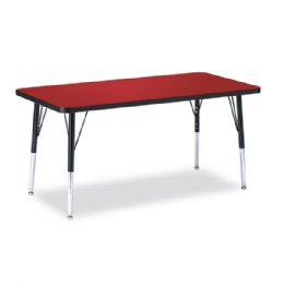 "Berries Rectangle Activity Table - 24"" X 48"", E-height - Red/Black/Black - Tables"