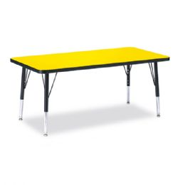 "Berries Rectangle Activity Table - 24"" X 48"", T-height - Yellow/Black/Black - Tables"