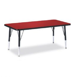 "Berries Rectangle Activity Table - 24"" X 48"", T-height - Red/Black/Black - Tables"