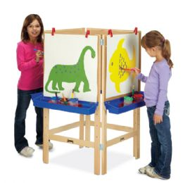 Jonti-Craft 4 Way Adjustable Easel - Art