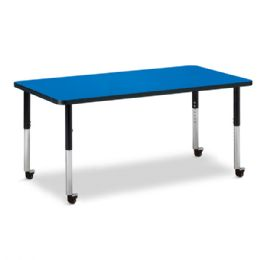 "Berries Rectangle Activity Table - 30"" X 60"", Mobile - Blue/Black/Black - Berries"