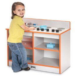 Rainbow Accents Toddler 2-IN-1 Kitchen - Red - Dramatic Play