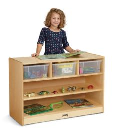 Jonti-Craft STEM Combo Mobile Storage Unit  with Clear Tubs - STEM