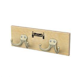JontI-Craft Wall Mount Coat Rail - 2 Hooks - Lockers