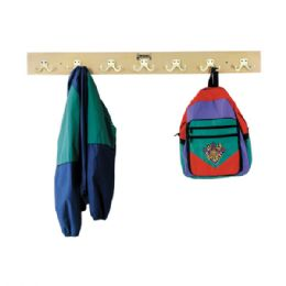 JontI-Craft Wall Mount Coat Rail - 7 Hooks - Lockers