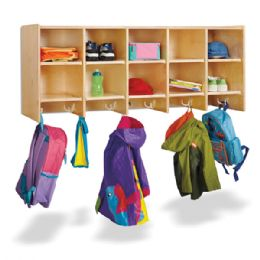JontI-Craft 10 Section Wall Mount Coat Locker - Without Trays - Lockers