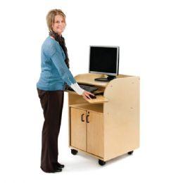 JontI-Craft Mobile Technology Stand - Keyboard Tray Kit - Teachers