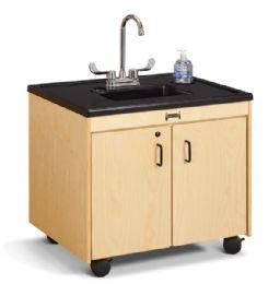 "JontI-Craft Clean Hands Helper - 26"" Counter - Plastic Sink - Teachers"