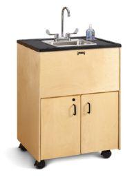 """JontI-Craft Clean Hands Helper - 38"""" Counter - Stainless Steel Sink - Teachers"""