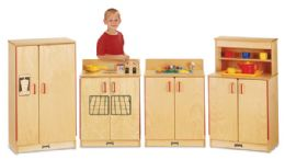 JontI-Craft Natural Birch Play Kitchen 4 Piece Set - Thriftykydz - Dramatic Play