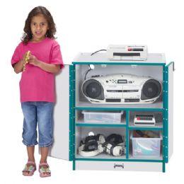Rainbow Accents Media Cart - Lockable - Blue - Teachers