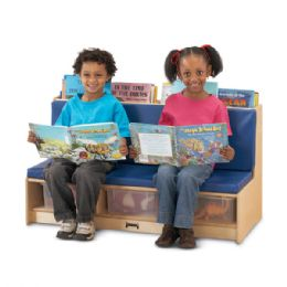JontI-Craft Literacy Couch - Red - Dramatic Play