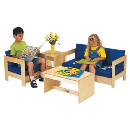 JontI-Craft Living Room Easy Chair - Blue - Dramatic Play