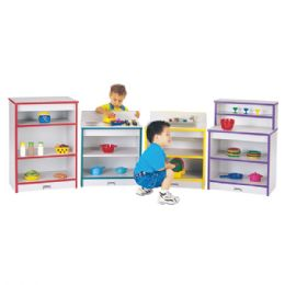 Rainbow Accents Toddler Kitchen 4 Piece Set - Blue - Dramatic Play