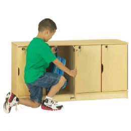 JontI-Craft Stacking Lockable Lockers - Single Stack - Cubbies