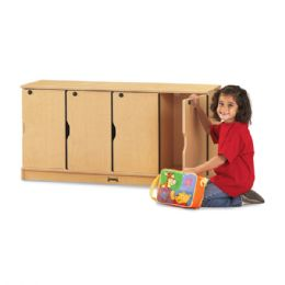 MapleWave Stacking Lockable Lockers -  Double Stack - Cubbies