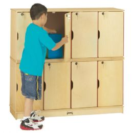 Jonti-Craft Stacking Lockable Lockers -  Double Stack - ThriftyKYDZ - Cubbies
