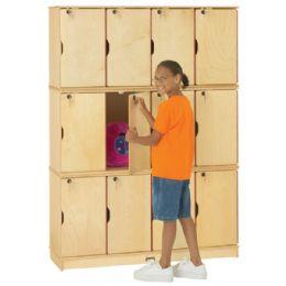 JontI-Craft Stacking Lockable Lockers - Triple Stack - Cubbies