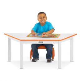 "Rainbow Accents Multi-Purpose Trapezoid Table - 14"" High - Orange - Dramatic Play"