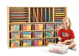 Young Time Sectional Cubbie Storage - with Clear Trays - RTA - Young Time