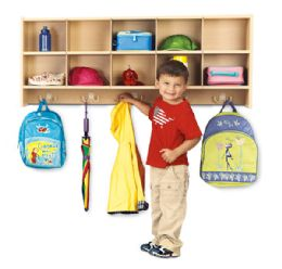 Young Time 10 Section Wall Mount Coat Locker - Rta - Young Time
