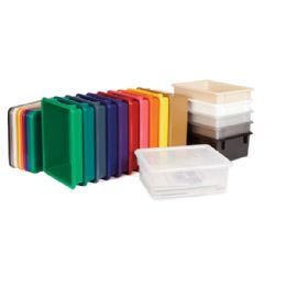 Jonti-Craft Paper-Trays & Tubs Lid - Clear - Art