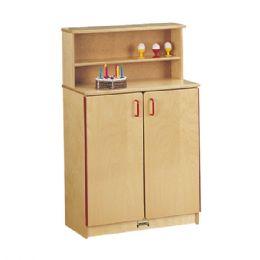 JontI-Craft School Age Natural Birch Play Kitchen Cupboard - Cubbies