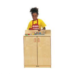 JontI-Craft School Age Natural Birch Play Kitchen Sink - Cubbies
