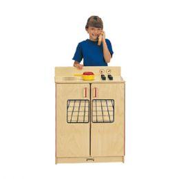 JontI-Craft School Age Natural Birch Play Kitchen Stove - Cubbies