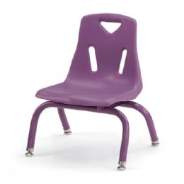 "Berries Stacking Chair with Powder-Coated Legs - 8"" Ht - Purple - Seating"