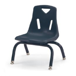 "Berries Stacking Chair with Powder-Coated Legs - 8"" Ht - Navy - Seating"
