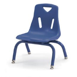 "Berries Stacking Chairs with Powder-Coated Legs - 8"" Ht - Set of 6 - Blue - Seating"