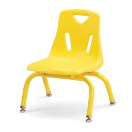 "Berries Stacking Chairs with Powder-Coated Legs - 8"" Ht - Set of 6 - Yellow - Seating"