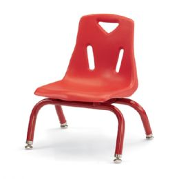 "Berries Stacking Chairs with Powder-Coated Legs - 8"" Ht - Set of 6 - Red - Seating"