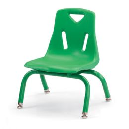 "Berries Stacking Chairs with Powder-Coated Legs - 8"" Ht - Set of 6 - Green - Seating"