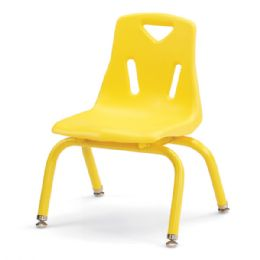 "Berries Stacking Chair with Powder-Coated Legs - 10"" Ht - Yellow - Seating"