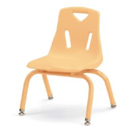 "Berries Stacking Chair with Powder-Coated Legs - 10"" Ht - Camel - Seating"
