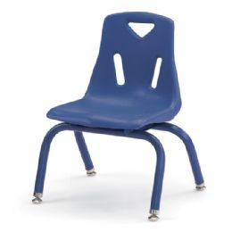 "Berries Stacking Chairs with Powder-Coated Legs - 10"" Ht - Set of 6 - Blue - Seating"