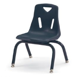 "Berries Stacking Chairs with Powder-Coated Legs - 10"" Ht - Set of 6 - Navy - Seating"