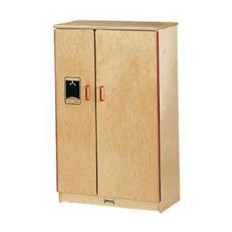JontI-Craft School Age Natural Birch Play Kitchen Refrigerator - Cubbies