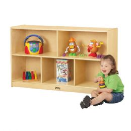 Jonti-Craft Low Single Mobile Storage Unit - Block Play