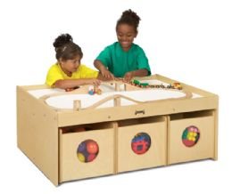 Jonti-Craft Activity Table - with 6 Bins - Block Play