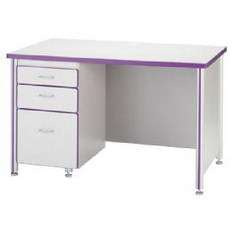 "Berries Teachers' 48"" Desk With 1 Pedestal - Maple - Teachers"