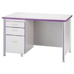 "Berries Teachers' 48"" Desk With 1 Pedestal - Oak - Teachers"