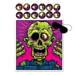 24 Units of Pin The Eyeball On The Zombie Game blindfold mask & 12 eyes included - Store