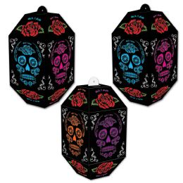 12 Units of Day Of The Dead Paper Lanterns assembly required - Store