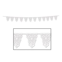 12 Units of Die-Cut Spider Web Pennant Banner 12 pennants/string - Store